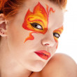 Fire bodyart — Stockfoto