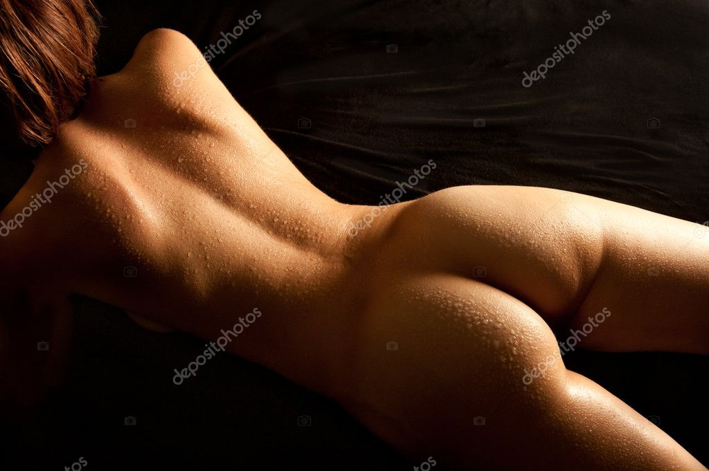 stock photo back nude young