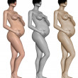 Stock Photo: Nude pregnant woman